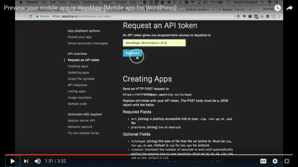 Preview your mobile app in WordApp - Mobile app plugin for